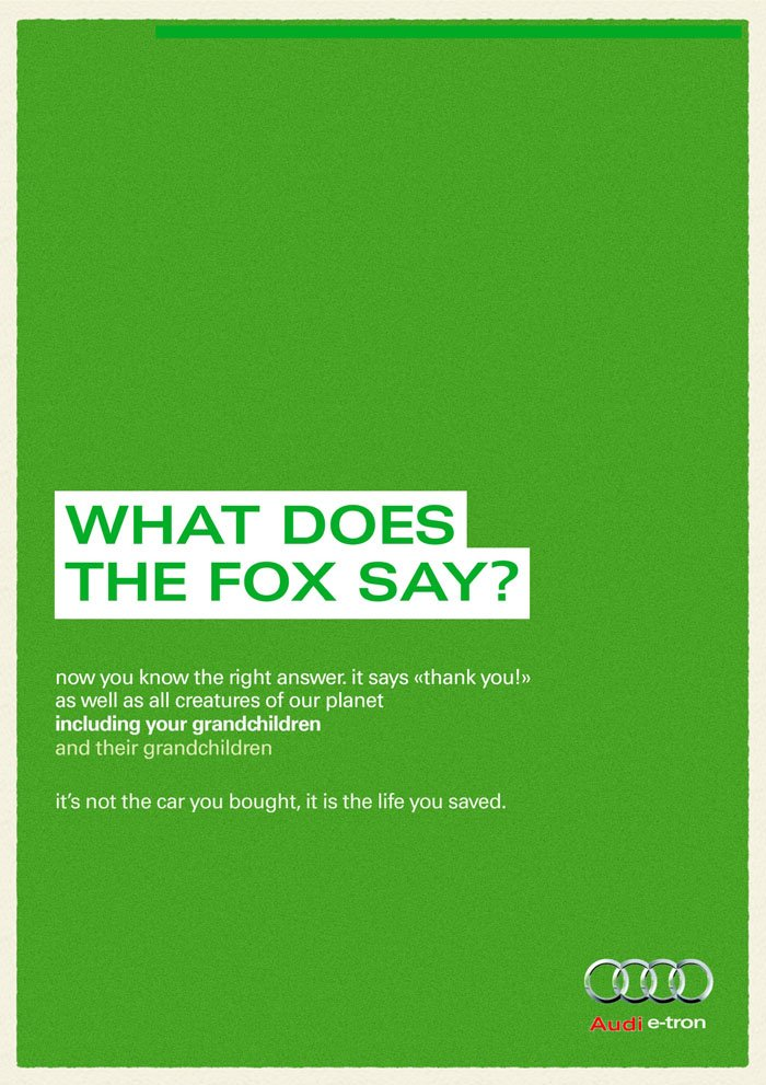 Audi - What does the fox say?