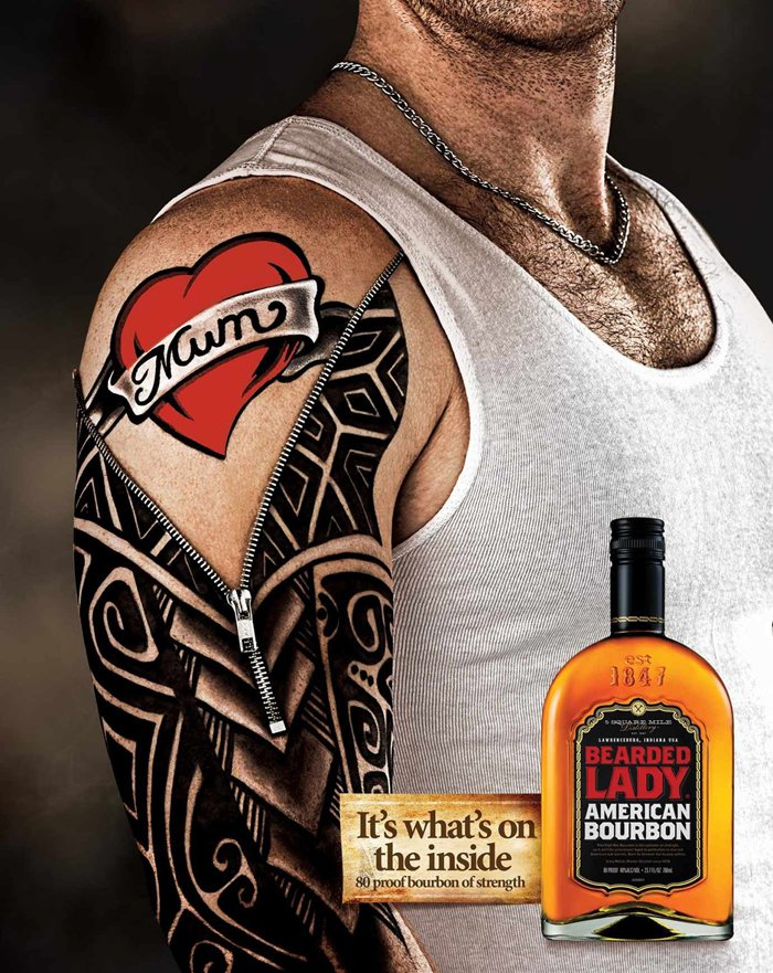Bearded Lady Bourbon - Tattoo - It's what's on the inside.