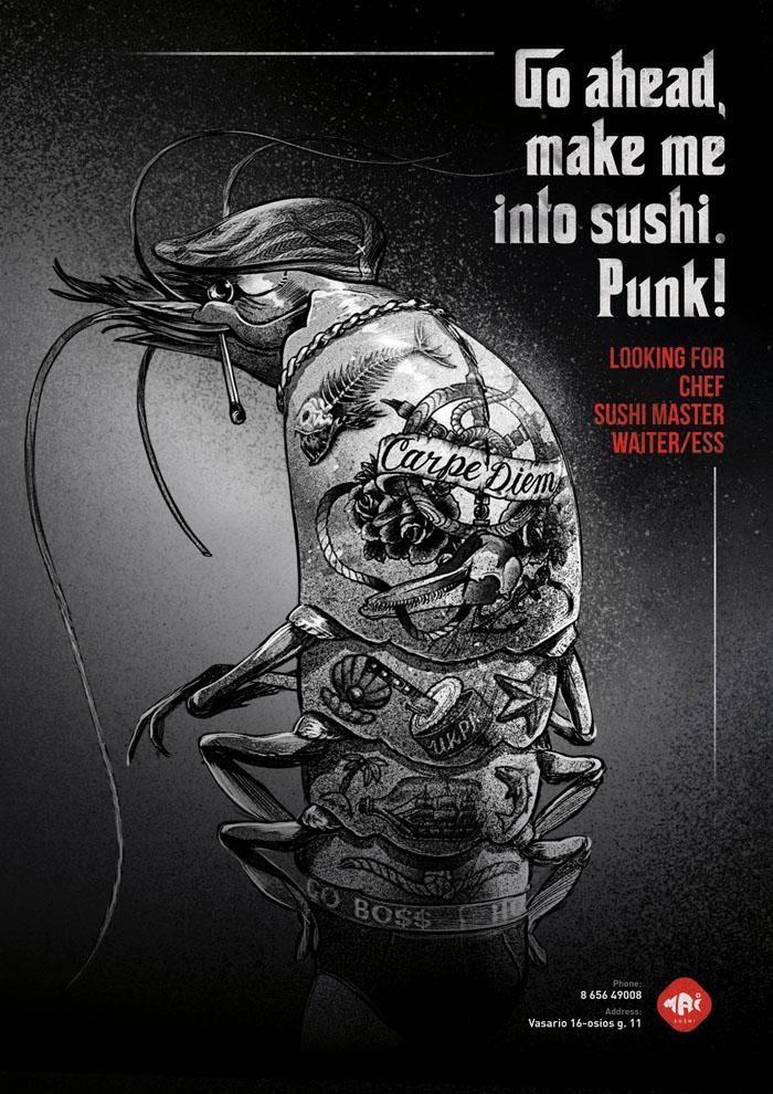 Mai Sushi - Sea gangsters - Go ahead, make me into sushi. Punk!