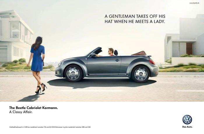 Volkswagen - A classy affair - The Beetle Cabriolet Karmann. A classy affair.