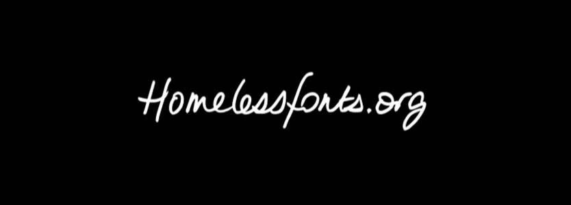 Homelessfonts una iniciativa de la Fundació Arrels