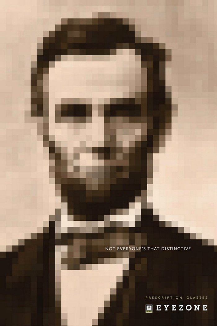 Eyezone Prescription Glasses - Abraham Lincoln - Not everyone's that distinctive.