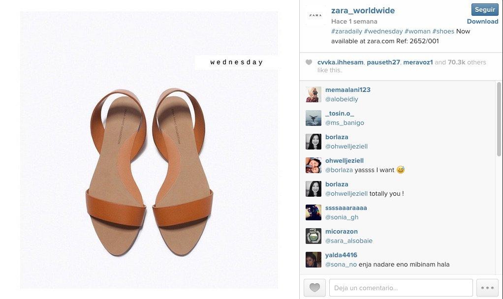 Promocion Instagram Zara
