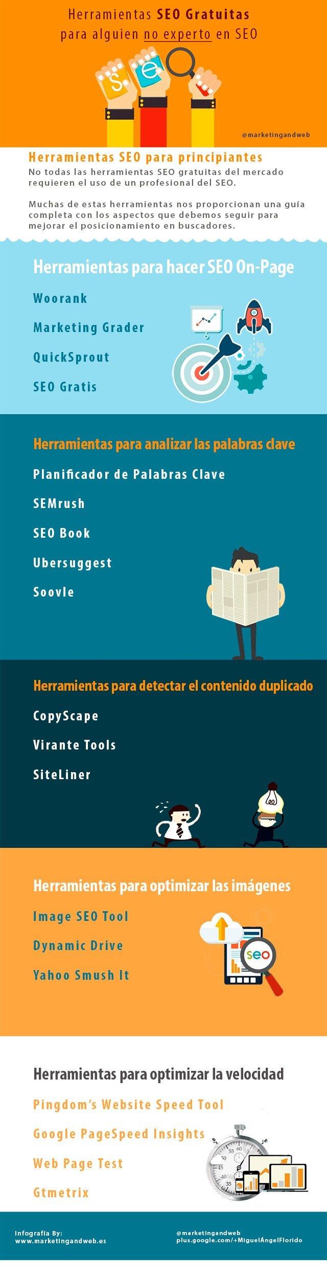 herramientas seo gratuitas principiantes infografia
