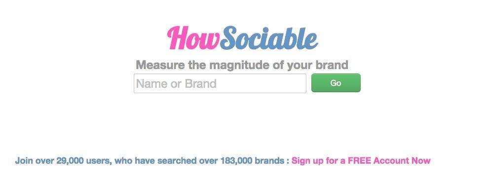 HowSociable - Herramientas para monitorizar tu marca en las Redes Sociales