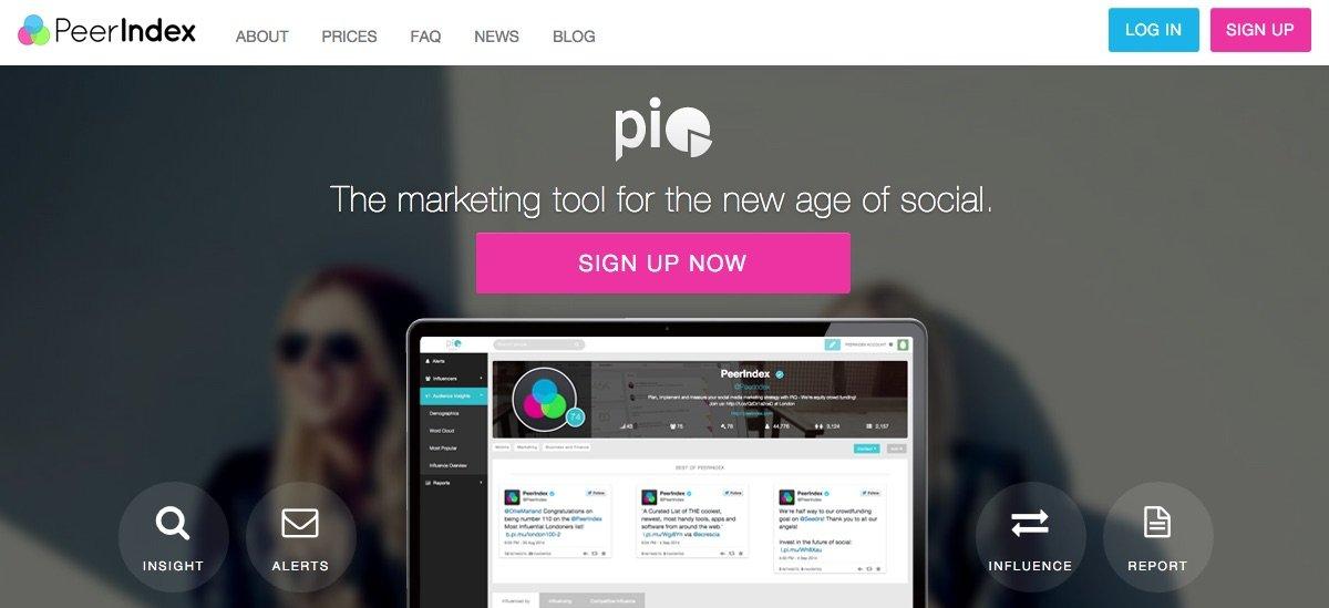 Peerindex - herramientas para buscar Influencers en Redes Sociales