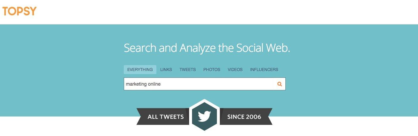 Topsy - Herramientas para monitorizar tu marca en las Redes Sociales