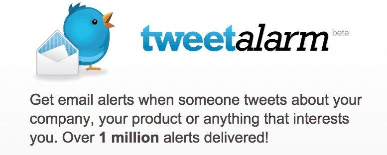 TweetAlarm - Herramientas para monitorizar tu marca en las Redes Sociales