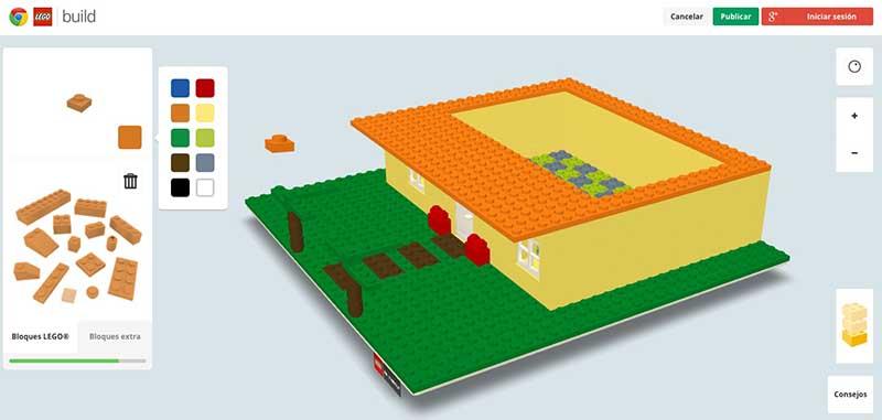 Construir LEGO con Google Chrome