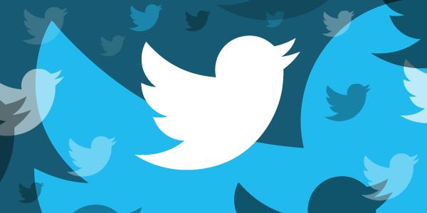 Dibujo pájaros twitter en azul y blanco