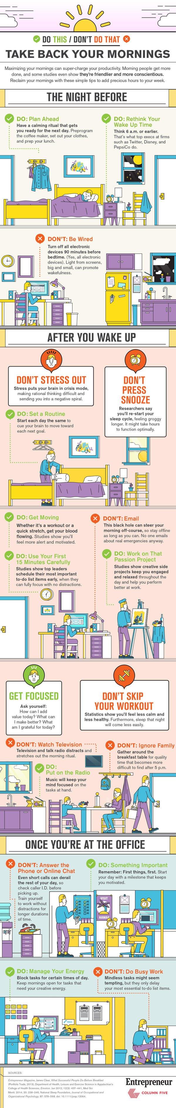 Consejos para aprovechar la mañana y ser más productivo