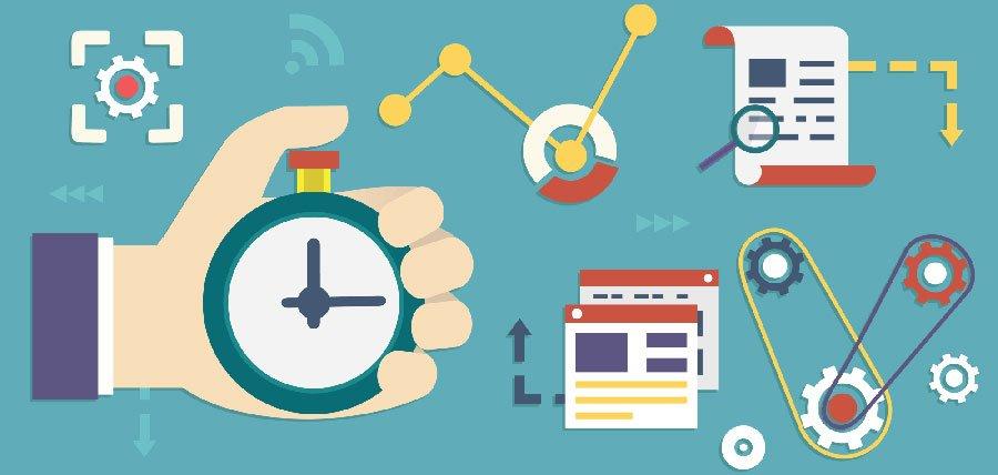 Dibujo con reloj, documento... aumentar la productividad trabajando desde casa