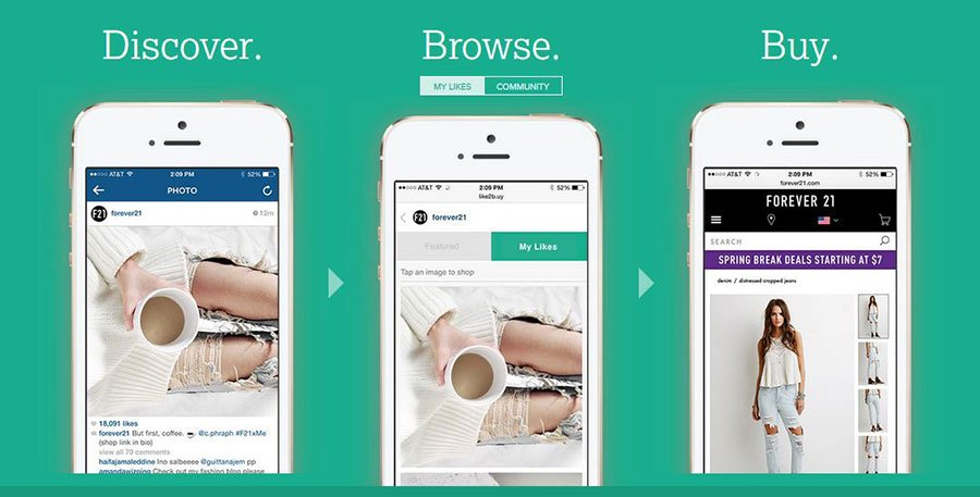 like2buy - Herramientas para vender productos en Instagram