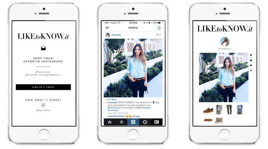 Liketoknow - Herramientas para vender productos en Instagram