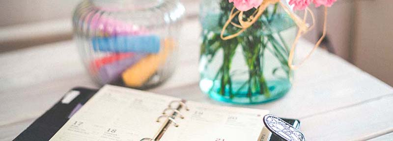 Agenda donde apuntar ideas para escribir en tu blog