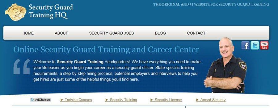 Ejemplo de cómo ganar dinero con tu blog: Security Guard Training