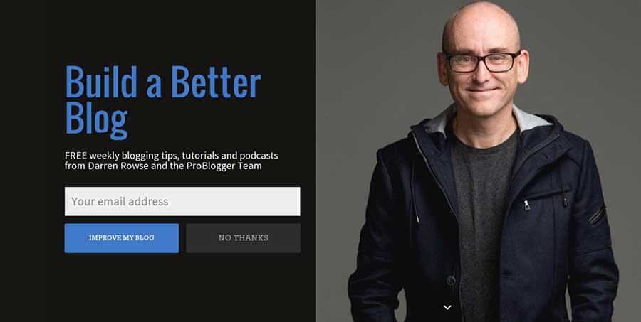 Dónde incluir los CTA para mejorar la conversión de tu web - CTA Pop up de Problogger