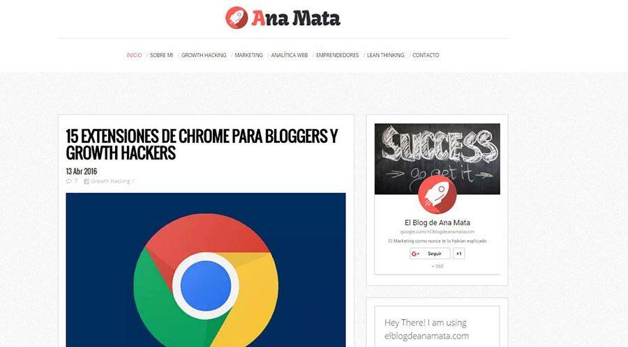 El Blog de Ana Mata - Los Mejores Blogs de Marketing Online en español del 2016