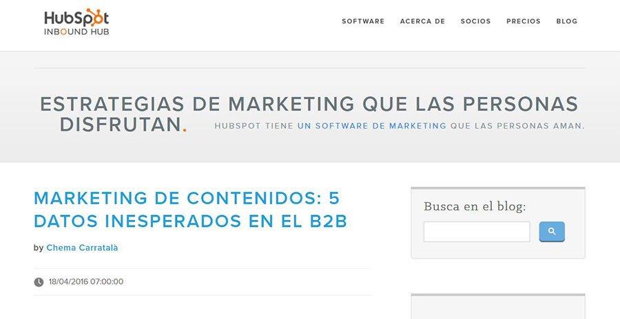 HubSpot - Los Mejores Blogs de Marketing Online en español del 2016