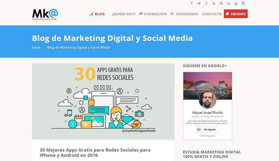 Marketing and Web - Los Mejores Blogs de Marketing Online en español del 2016