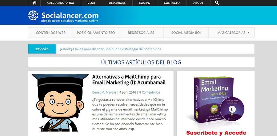 Socialancer - Los Mejores Blogs de Marketing Online en español del 2016