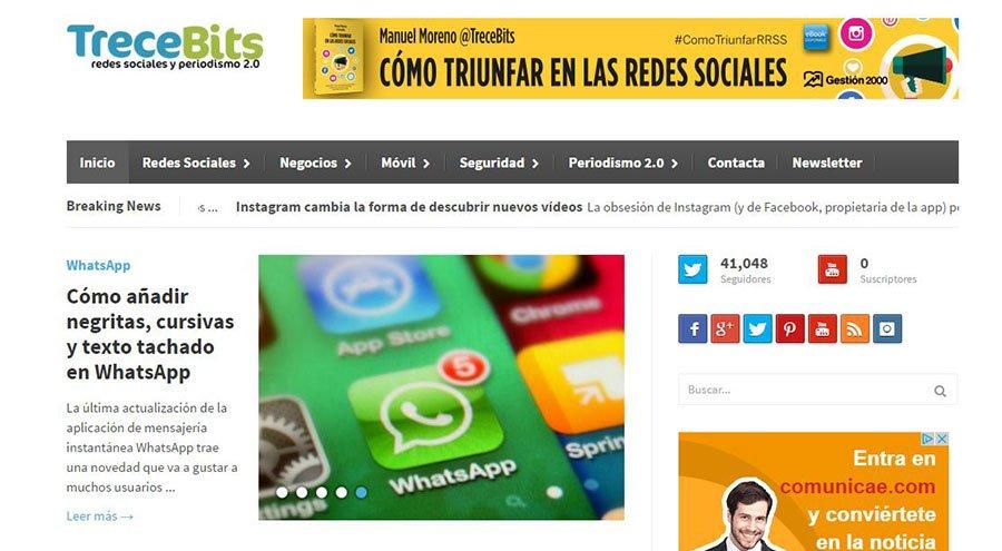 TreceBits - Los Mejores Blogs de Marketing Online en español del 2016
