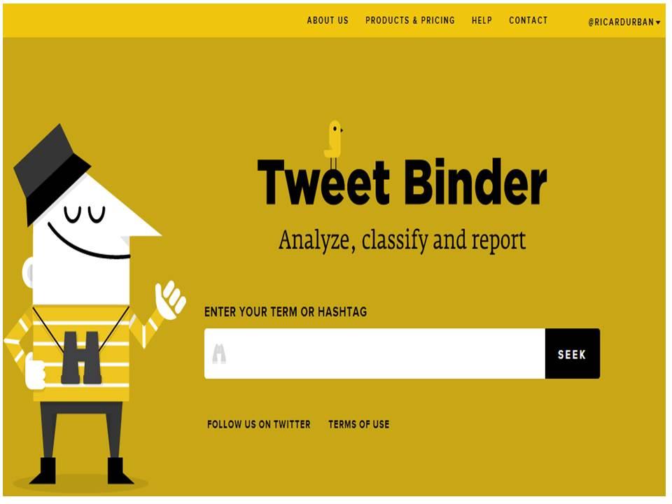 Tweet Binder - Herramienta para gestionarTwitter