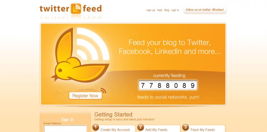 TwitterFeed - Herramienta para gestionar Twitter