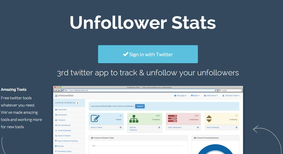 Unfollower Stats - Herramienta para gestionar Twitter