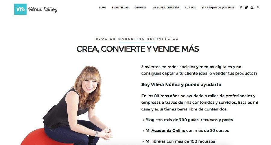 Vilma Nuñez - Los Mejores Blogs de Marketing Online en español del 2016