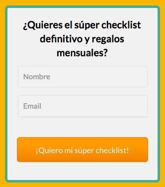 Cómo crear una landing page perfecta: Ejemplo formulario de contacto