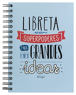 "Los mejores regalos para marketeros: Mr Wonderful Libreta de color con ""Superpoderes para tener Grandes Ideas"""