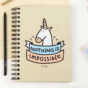 "Los mejores regalos para marketeros: Mr. Wonderful - Notebook , diseño ""Nothing is impossible"""