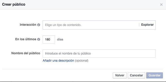 Público que ha interaccionado con tu página de empresa de Facebook