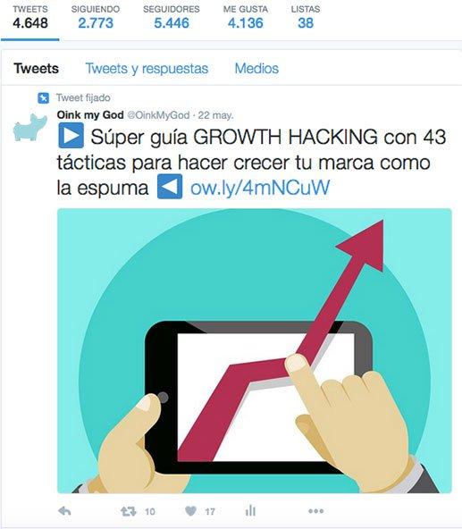 Cómo conseguir seguidores en Twitter: fija un tweet que sea la caña