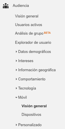 Informes de Google Analytics para Marketeros dispositivos móviles