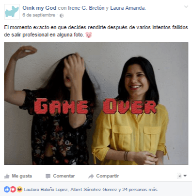 Mensajes con humor - Facebook Oink My God
