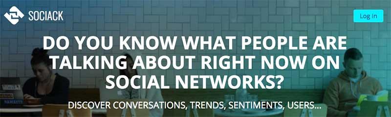 Sociack - herramientas para buscar influencers en redes sociales