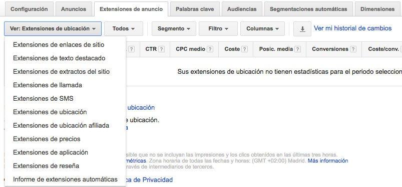 Extenciones de anuncios en Google Adwords