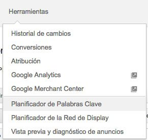 errores en google adwords no buscar palabras clave