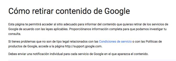 Cómo retirar contenido duplicado de Google
