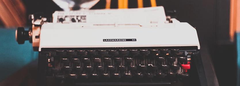 Máquina de escribir para escribir el post perfecto en tu blog