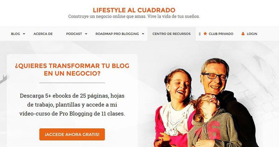 Ejemplo de cómo ganar dinero con tu blog: Life Style al Cuadrado
