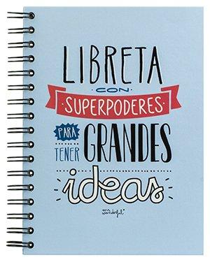"""Los mejores regalos para marketeros: Mr Wonderful Libreta de color con """"Superpoderes para tener Grandes Ideas"""""""