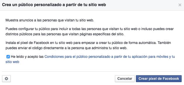 Público personalizado a partir de usuarios que han visitado tu web