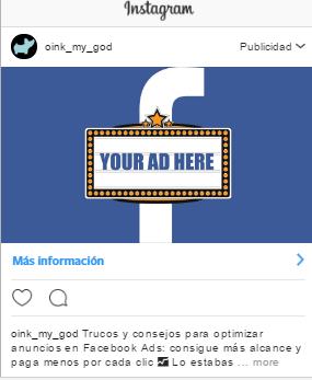 preview campaña de publicidad en Instagram