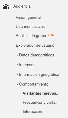Informes de Google Analytics para Marketeros: visitantes nuevos vs recurrentes