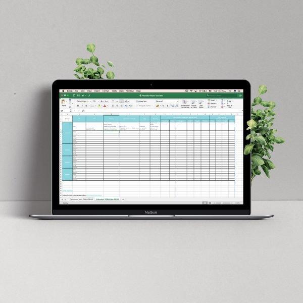 Plantilla para crear un calendario de Redes Sociales