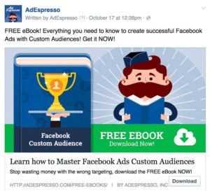 Ejemplo Call to Action en Facebook Ads