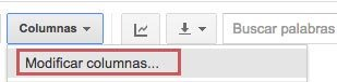 Modificar columnas Google Analytics